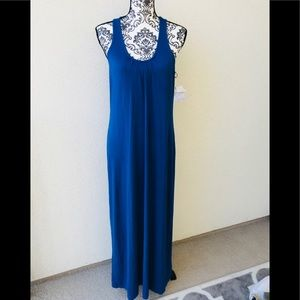 ⭐️ Lord&taylor blue long summer dress NWT M